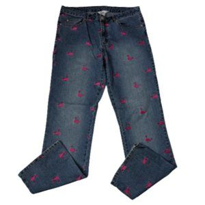 Lilly Pulitzer Pink Whale Embroidered Jeans
